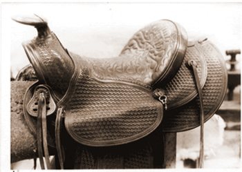 This seat is typical of the Visalia Stock Saddle Co. in the 1940's