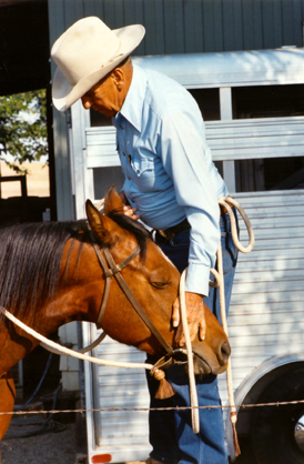 Tom at a clinic in Gustine, California, in 1994.