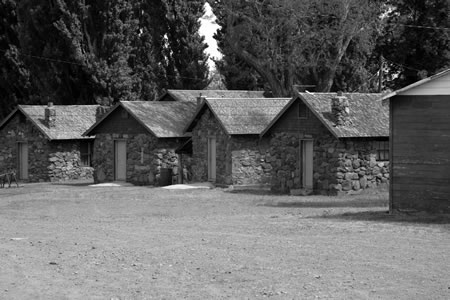 Guest cabins circa 1900, built by the Basque workers of the original ranch.