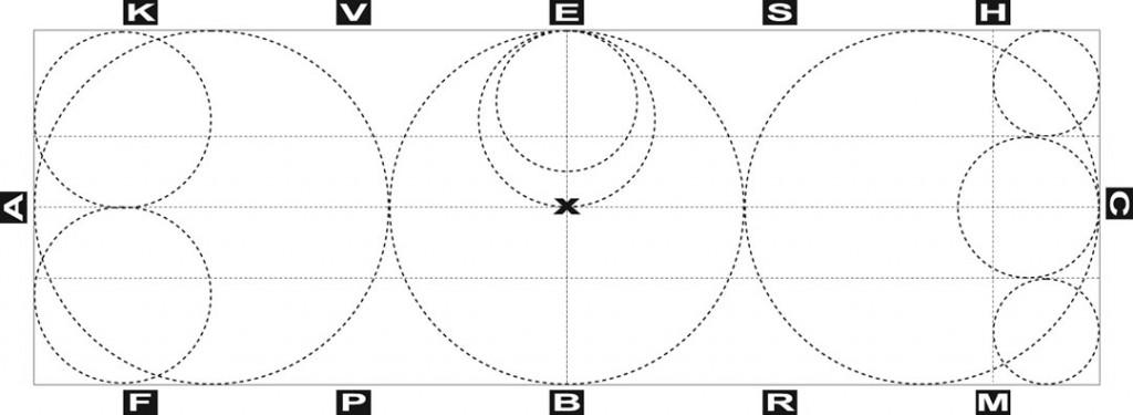 A 20 x 60 meter arena with 20, 10, and 8 meter circles illustrated
