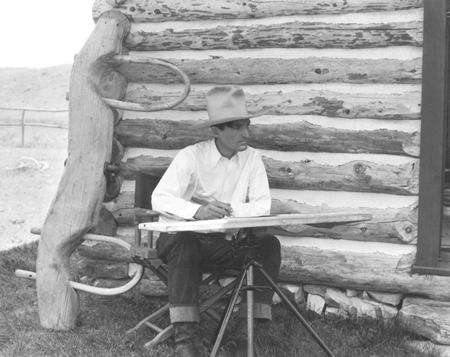 Photo of Will James, courtesy Big Horn County Historical Society - Will James Art Company Collection