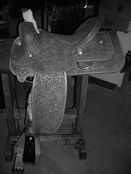 Arena roping saddle on Toots Mansfield tree.