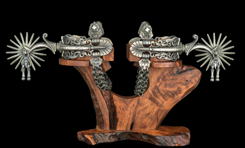 "Because of the shorter ""heel to horse"" distance they provide, large-roweled spurs can actually be a gentler option than smaller alternatives. COURTESY NATIONAL COWBOY & WESTERN HERITAGE MUSEUM"