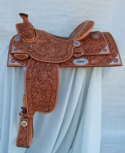On this saddle, the lines of the front seat jockey and back jockey (housing) are in line with each other and parallel with the bottom line of the skirt. COURTESY TROY WEST